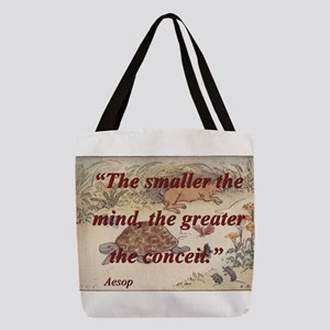 The Smaller The Mind - Aesop Polyester Tote Bag