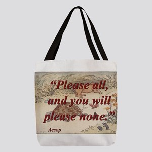 Please All - Aesop Polyester Tote Bag