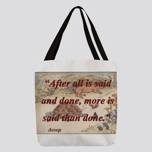 After All Is Said And Done - Aesop Polyester Tote