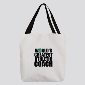 World's Greatest Athletic Coach Polyester Tote