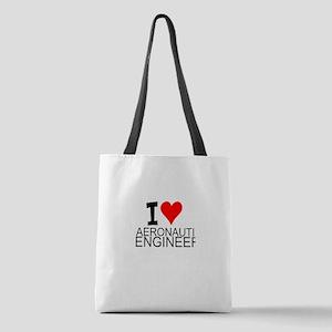 I Love Aeronautical Engineering Polyester Tote Bag