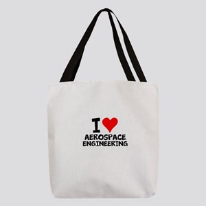 I Love Aerospace Engineering Polyester Tote Bag