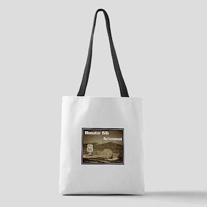 Route 66 Arizona Vintaged Polyester Tote Bag