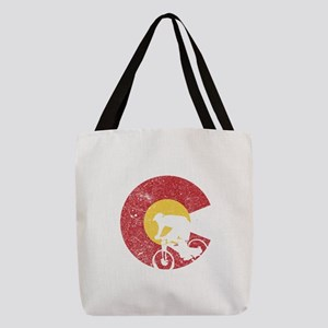 Mountain Bike Colorado Polyester Tote Bag