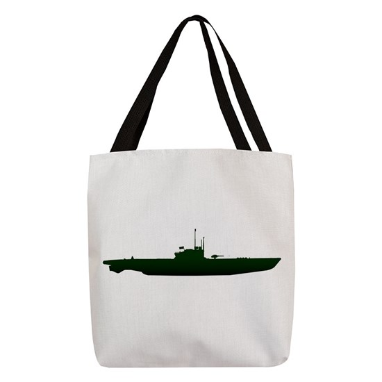 Submarine Silhouette On White