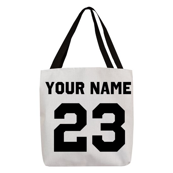 06e3647b7b10 Custom Sports Jersey Number. Polyester Tote Bag