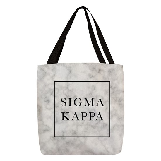 9487fe0e17 Sigma Kappa Marble Polyester Tote Bag by OfficialGreek - CafePress
