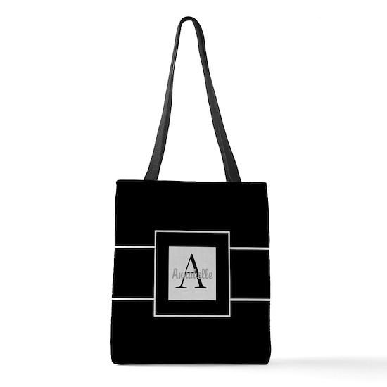Black White Monogram Personalized