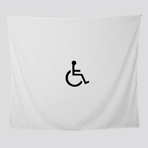 Navy wheelchair symbol Men Wall Tapestry