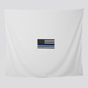 Thin Blue Line Decal - USA Flag - Re Wall Tapestry