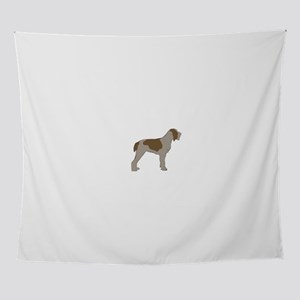 Spinone Italiano color silhouette Wall Tapestry