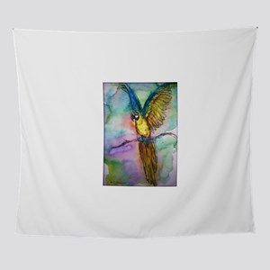 Blue/gold Macaw, parrot art! Wall Tapestry