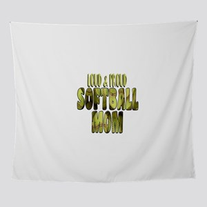 Softball Mom: Loud and Proud Wall Tapestry