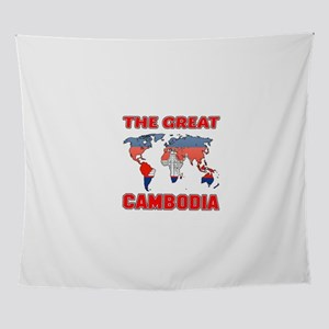 The Great Cambodia Designs Wall Tapestry