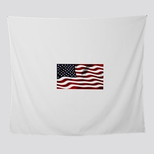 Classic USA Flag in the Wind Wall Tapestry