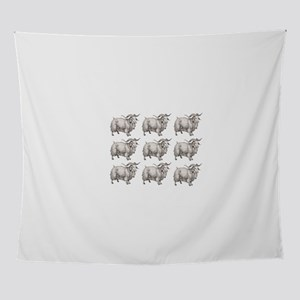 more open farm sheep Wall Tapestry