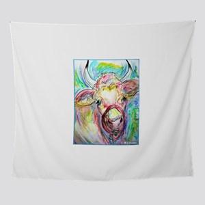 Cow! Colorful, art! Wall Tapestry