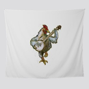 Banjo Chicken Wall Tapestry