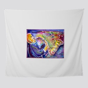 Music! Fun, colorful, sax! Wall Tapestry