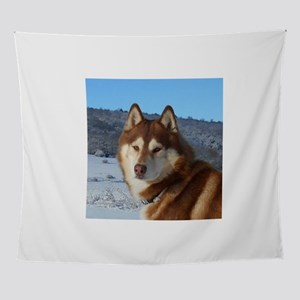 siberian husky red and white Wall Tapestry