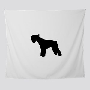 giant schnauzer silhouette Wall Tapestry