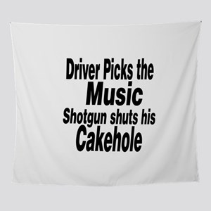 Driver Picks the Music Wall Tapestry