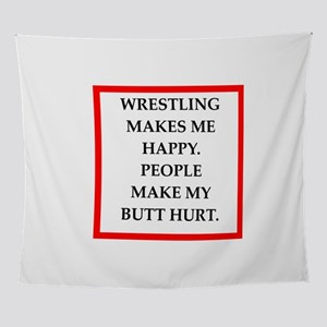 Wrestling joke Wall Tapestry