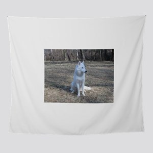 siberian husky white full second Wall Tapestry