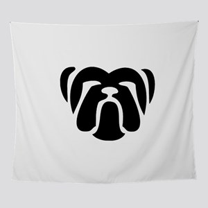 bulldog tribal Wall Tapestry