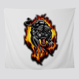 Fire Panther Wall Tapestry