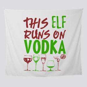 This Elf Runs On Vodka Xmas Christma Wall Tapestry