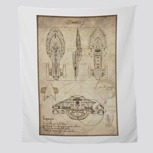 Da Vinci USS Voyager Wall Tapestry