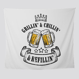 Grillin Chillin Shirt, Grillin Chill Wall Tapestry