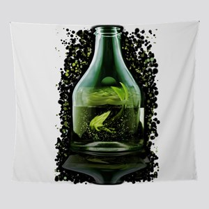 mermaid in the bottle Wall Tapestry