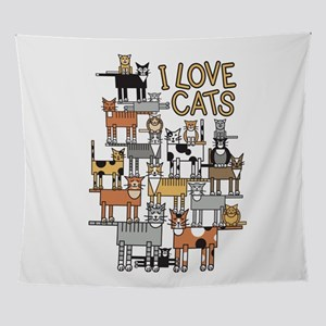 I LOVE CATS Wall Tapestry