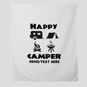 Happy Camper Personalized Wall Tapestry