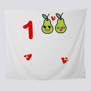 1st Wedding Anniversary Great Pear d Wall Tapestry