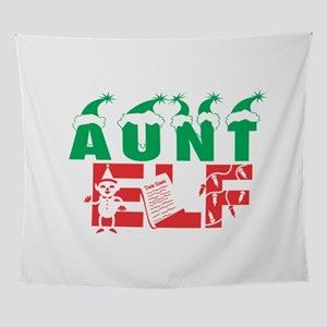 Aunt Elf Xmas Christmas Hat Santa Se Wall Tapestry