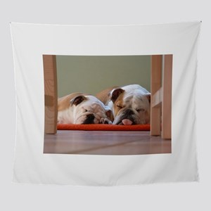 2 sleeping bulldogs Wall Tapestry