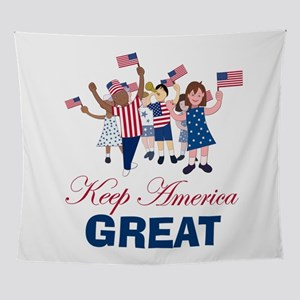 Kids Keep America Great Wall Tapestry