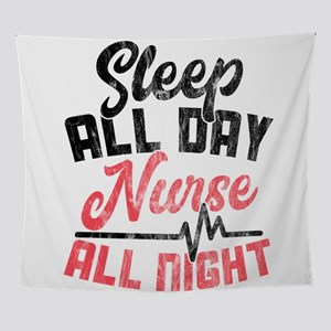 Night Shift Nurse Gift graphic Sleep Wall Tapestry