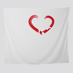 I Heart Running Fitness Run Exercise Wall Tapestry