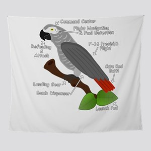 Anatomy of an African Grey Parrot gr Wall Tapestry