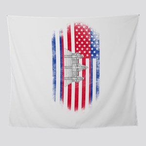 Cambodian American Flag Cambodia a Wall Tapestry