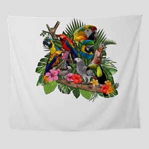 Parrot Macaw Wall Tapestry