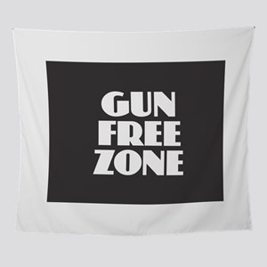 Gun Free Zone Wall Tapestry
