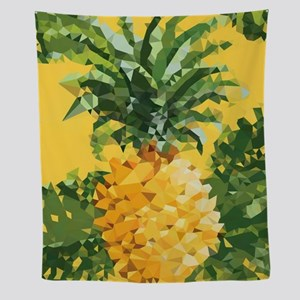 Pineapple Low Poly Tropical Art Wall Tapestry
