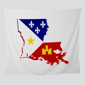 Acadiana State of Louisiana Wall Tapestry