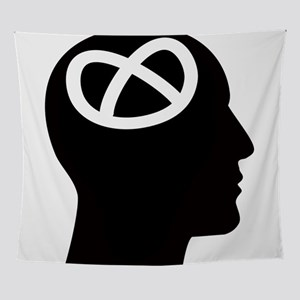 Black and White Pretzel Logic Head / Wall Tapestry
