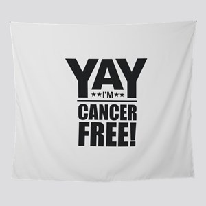 Cancer Free - Black Wall Tapestry